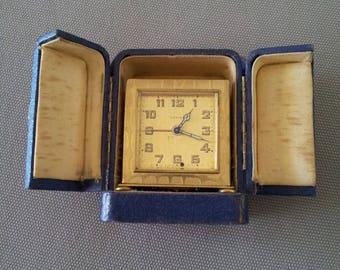 Small alarm clock Art Deco travel Zenith vintage 1920/1930 - original box