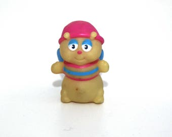 Vintage 80s Glo worm pvc toy figure glow in the dark