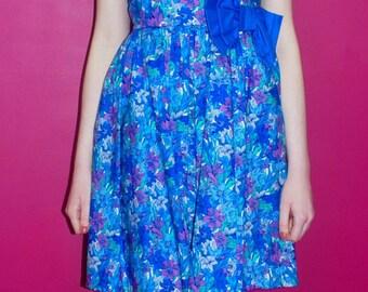 1970S FLORAL BUSTIER DRESS (Marion Donaldson)