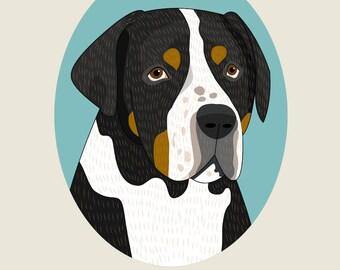 Dog breed art. Custom dog portrait Digital dog Illustration Gift for dog lovers Dog portrait from photo Dog art Unique Home decoration