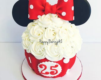 Fondant Minnie Mouse Ears and Bow