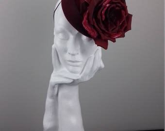 Elegant and dramatic headpiece suitable for Cheltenham Races, wedding guest, Ascot, The Curragh