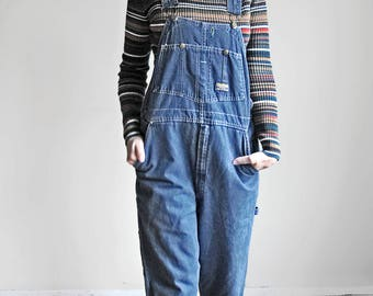Vintage OshKosh Vestbak Overalls - Adult Size - Vestbak The Genuine Article - Medium Wash Denim Dungarees - Work Wear - Up to Waist 34