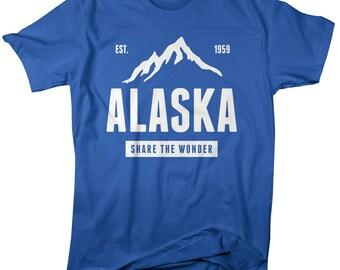 Men's Alaska State Pride T-Shirt Mountains Wonder Tee Pride Shirts
