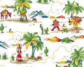 South of the Border, Desert Scene, Village Scene - By Another Point of View for Windham Fabrics - 43467 White  - Priced by the Half Yard