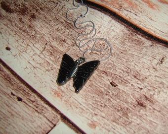 Hematite Butterfly Necklace