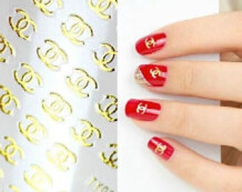Nail sticker etsy gold 3d designer nail sticker 10 designs available prinsesfo Choice Image