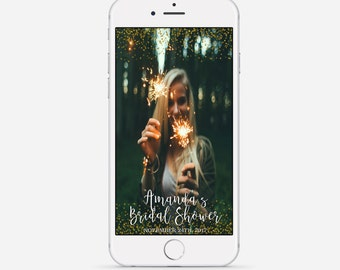 Gold Glitter Snapchat Geofilter, Custom Bridal Shower Snapchat Geofilter, Gold Bridal Shower Geofilter, Glitter Bridal Snapchat Filter
