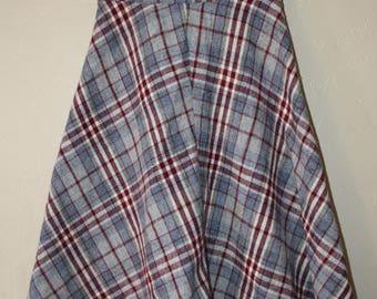 1960's Plaid Wool skirt