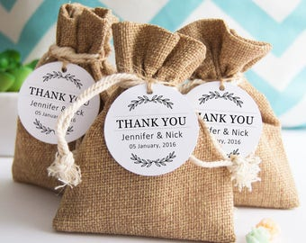 Wedding Favor Tag, Custom Thank You Tag, Wedding Gift Tags, Thank You Tags, Bridal Shower Tags, Personalized Tags