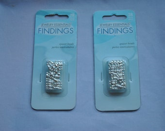 Unusual Silver Tone Spacer Beads