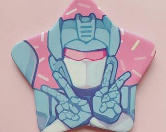 Transformers G1 - Soundwave Star Button