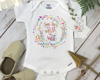 Rainbow Baby Onesie®, Some Things are Worth the Wait, Special Baby Gift, Rainbow Shower Gift, Pregnancy After Loss, Rainbow Baby Gift, Baby