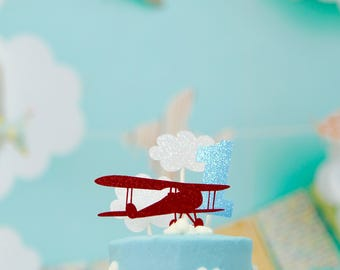 Airplane cake topper Etsy