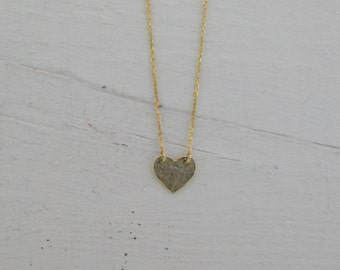 Heart Necklace 925k Sterling Silver Necklace, Layering Necklace, Simple Everyday Necklace, Minimalist Jewelry