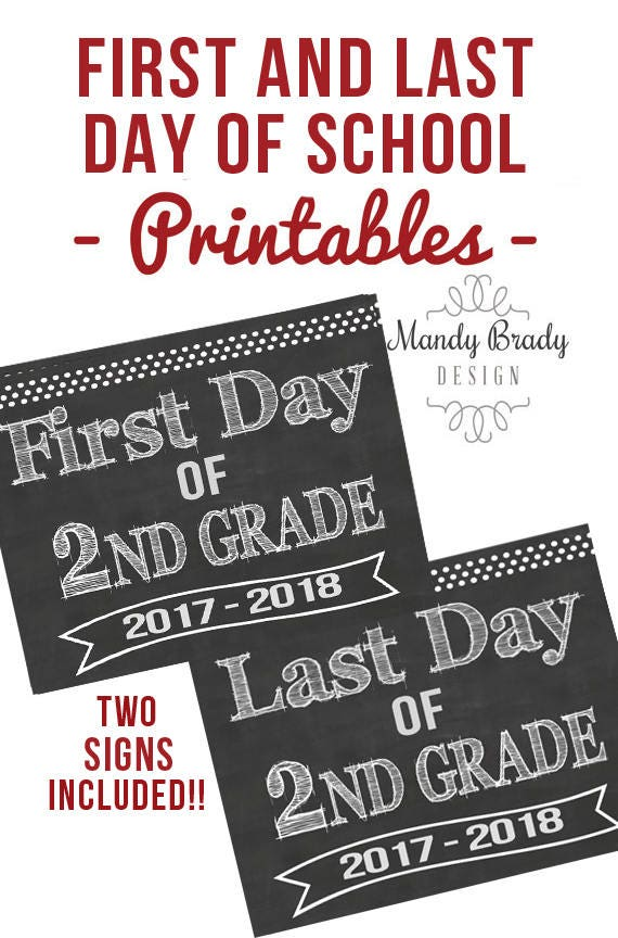 It's just a photo of Gorgeous Last Day of 2nd Grade Printable