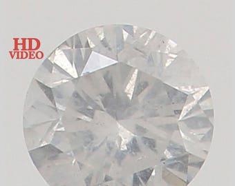 2.40 MM 0.054 Ct Natural Loose Diamond Cut Round Shape Fancy White Color K3126