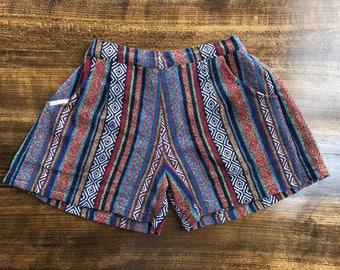 Comfy Woven Shorts: Totem Stripe