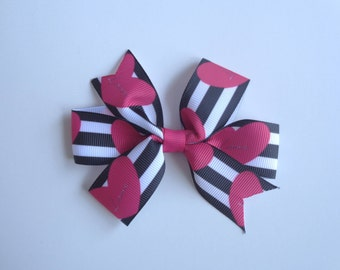 "Valentine's Day ""Love"" Heart Hair Bow"