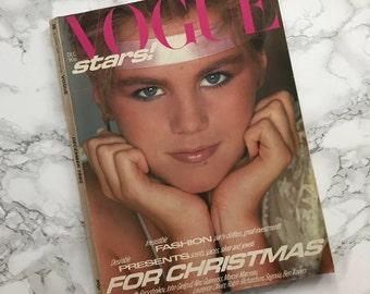 Vintage December 1980 VOGUE Magazine / Vogue Stars Issue / British UK Edition