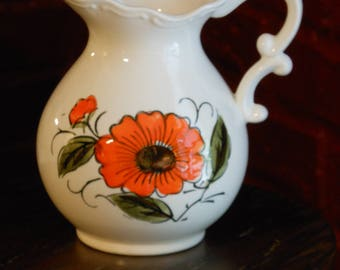 Hand Painted Japanese Pitcher Vase