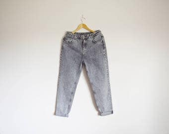 vintage 1990s grey highwaisted denim jeans