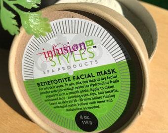 Facial Clay Mask Bentonite - 4 oz