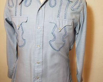 FREE  SHIPPING   Embroidered  Miller Western  Shirt