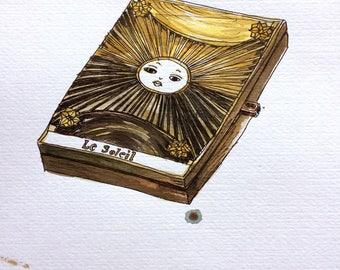 Dior Sun Fashion Illustration Original Wall Art