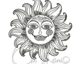 MACHINE EMBROIDERY DESIGN - Sun