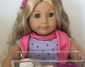 Little guinea pig set for 18 inches doll as A G Doll or little hands to play.
