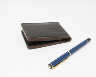Leather bifold credit card holder