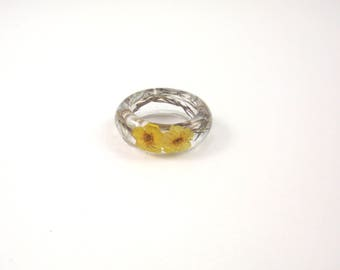 Nature ring, Real flower Resin ring, Flower resin jewelry, Pressed flower jewelry, Botanical ring, Flower ring, Statement ring, gift idea