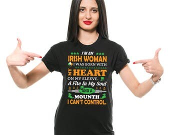 Irish Woman T-Shirt Funny St Patrick's Day Drinking Irish Pub Tee Shirt