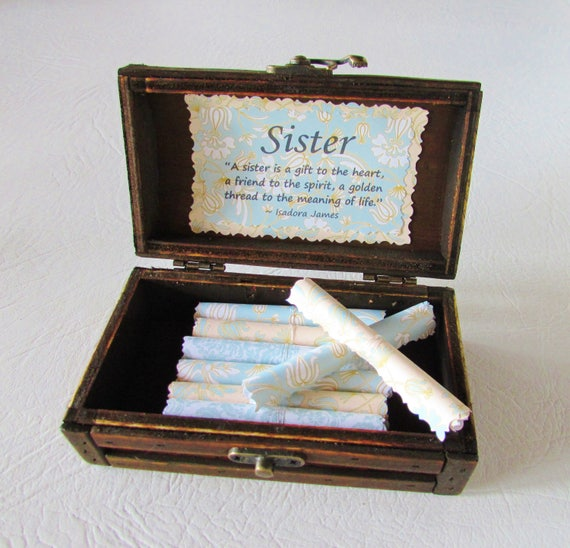 Sister Gift Sister Birthday Gift Sister Gift Idea Sister Scroll Box Sister Quote Big Sister Twin Sister My Sister My Friend Sister Christmas