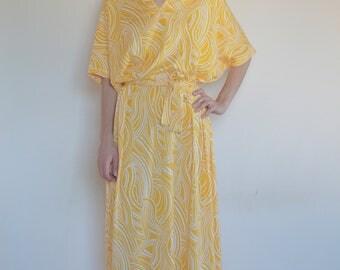 70's Diane Von Furstenberg jersey maxi tunic caftan/ boho summer marrakesh chic