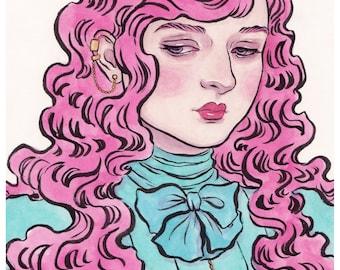 Sorina - A5 Print - Victoriana Pop Surrealism Magical Girl