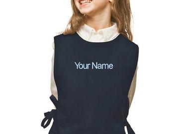 Personalized Navy Blue Cobbler Kids Apron