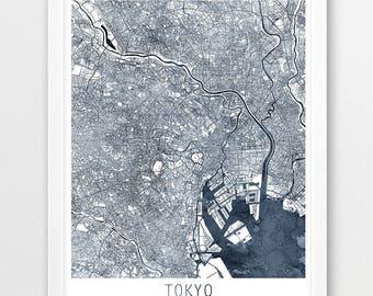 Japan Watercolor Map Etsy - Japan map poster