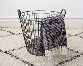 Vintage medium metal and wire potato basket from Belgium - 1 left! - storage basket - metal basket - industrial basket