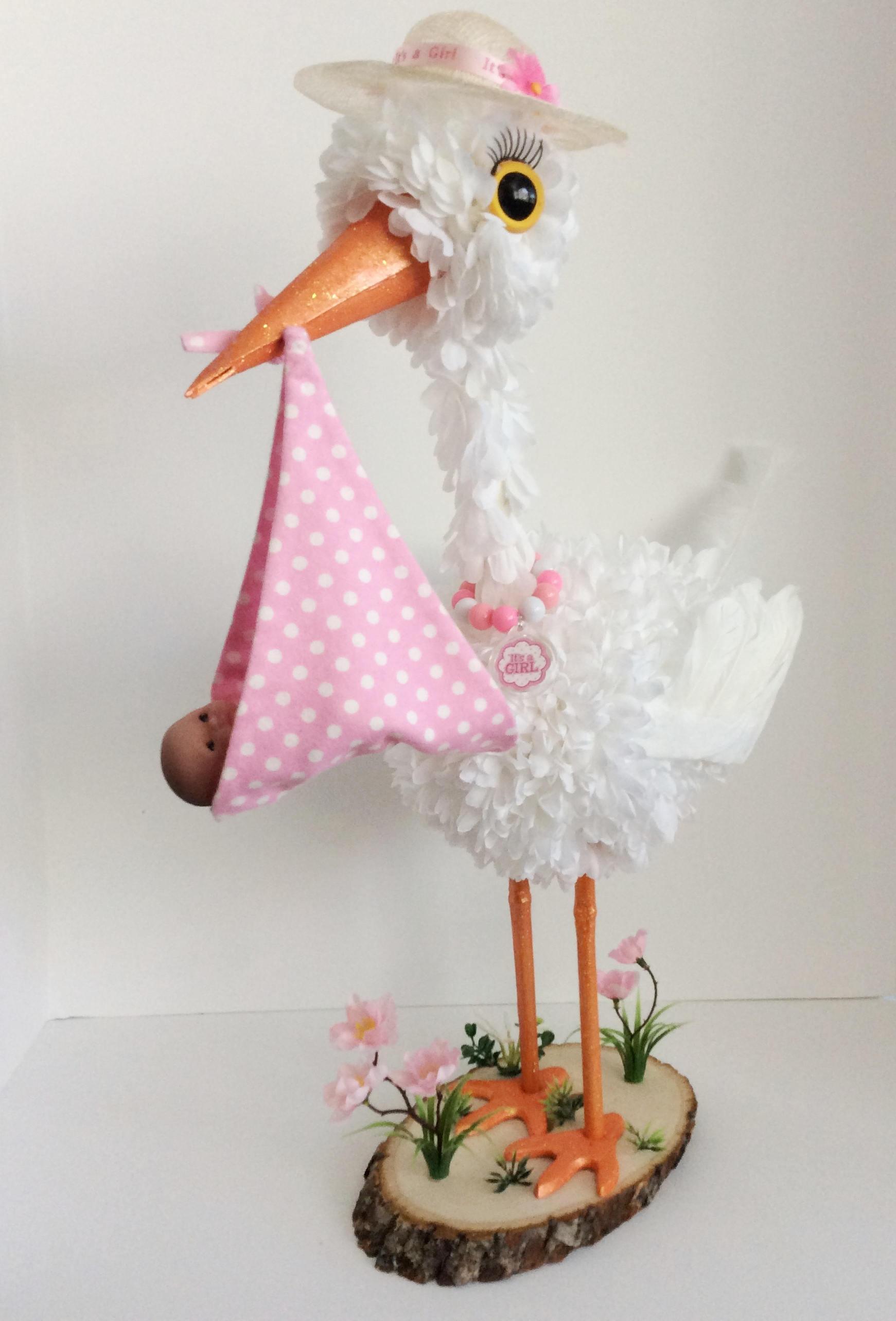 Stork Centerpiece baby girl stork centerpiece unique baby