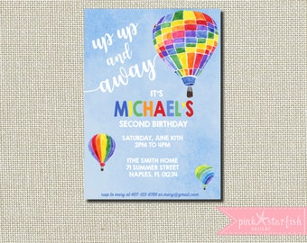 Balloon invitation Etsy