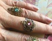 Jewelry, Boho Rings, Gypsy Rings, Bohemian Rings, Birthstone Rings, Knuckle Midi Rings, Filigree Rings, Boho Jewelry, Womens Rings