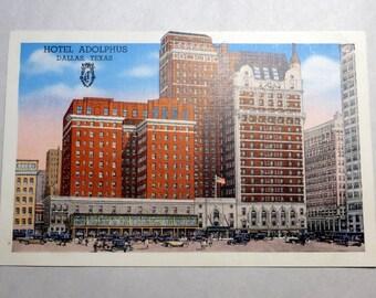 Vintage 1930's Postcard Hotel Adolphus Dallas Texas
