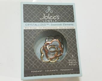 Swarovski, Crystal, Tri Tone, Link, Connector, Finding, Jolee's Jewels, NIB, Clover, Pendant, Jewelry, Beading, Supply, Supplies
