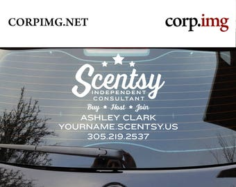 Scentsy Car Decal Etsy - Custom car decals businesswindow decals