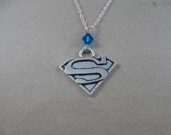 Superman - Supergirl - Silver Charm Necklace
