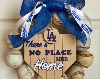 LA Dodgers Baseball Wreath