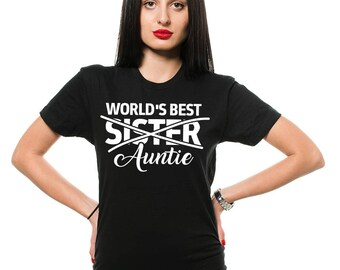 Auntie T-Shirt Gift For Aunt Sister Funny Family Tee Shirt Birthday Gift Shirt