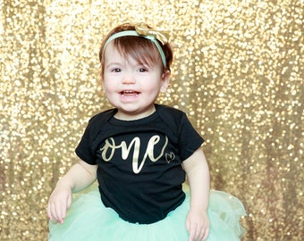 First Birthday Outfit Girl, Mint Gold Tutu Girl First Birthday Outfit, Birthday Shirt, Mint Birthday Tutu, Cake Smash Outfit